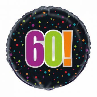 Birthday Cheer 60th Balloon