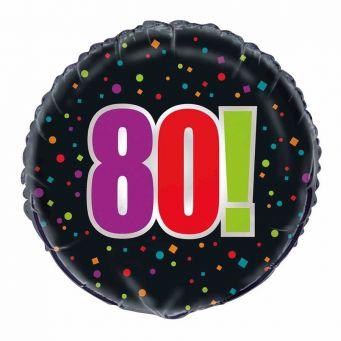 Birthday Cheer 80th Balloon