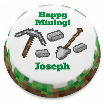 Happy Mining Cake