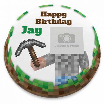 Miner Photo Cake