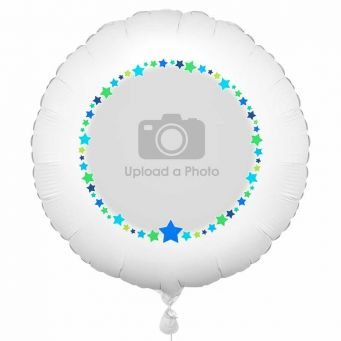 Blue Stars Photo Balloon