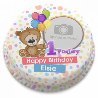 Teddy's First Birthday Cake