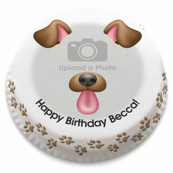 Dog Selfie Cake