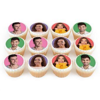 4 Photos On 12 Cupcakes
