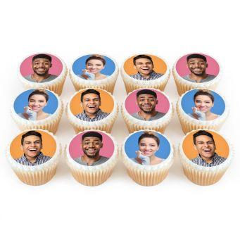 3 Photos On 12 Cupcakes