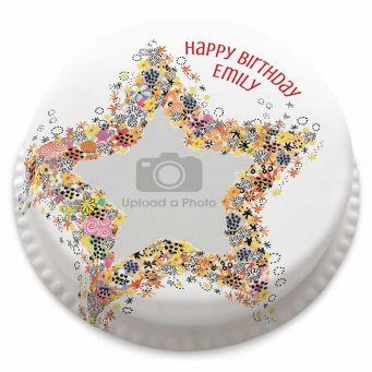 Star Photo Upload Cake