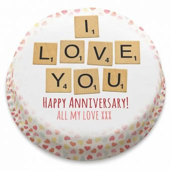 Anniversary Scrabble Cake