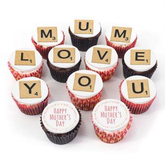 12 Love you Mum Cupcakes
