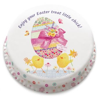 Pretty Easter Egg Cake