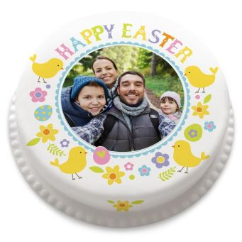 Happy Easter Photo Cake