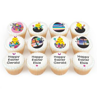 12 Colourful Egg Cupcakes