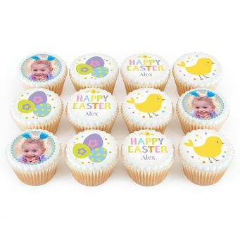 12 Easter Sign Cupcakes