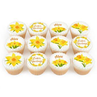 12 Daffodils Cupcakes