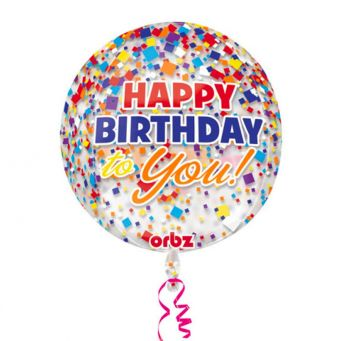 Colourful Happy Birthday Balloon