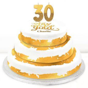 30th Birthday Gold Foil Cake