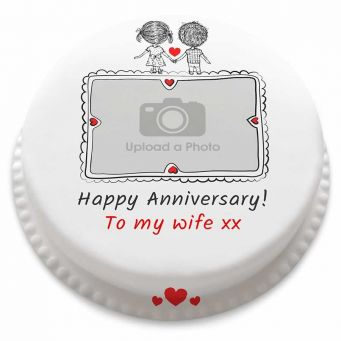 Photo couple Sketch Cake