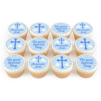 12 Blue Dove Cupcakes