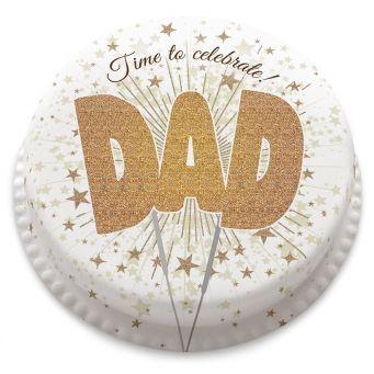 DAD Sparkler Cake