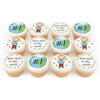 12 World's Best Dad Cupcakes