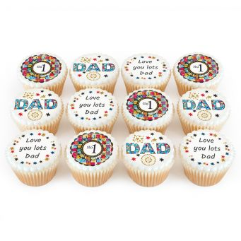 12 Starry No.1 Dad Cupcakes