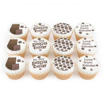 12 Papa Bear Cupcakes