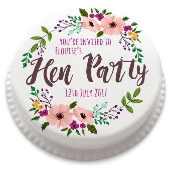 Hen Party Invitation Cake