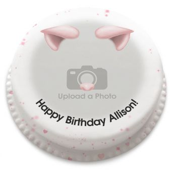 Cute Pig Filter Photo Cake