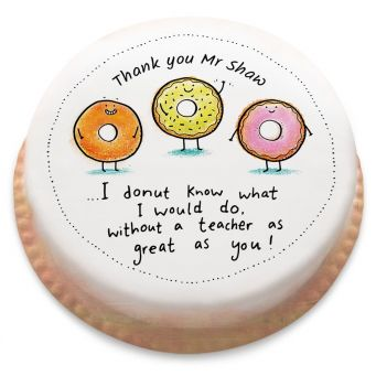 Thank You Donuts Cake