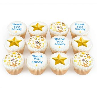 12 Thank You Star Cupcakes