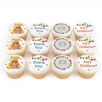 12 Thank You Teddy Cupcakes