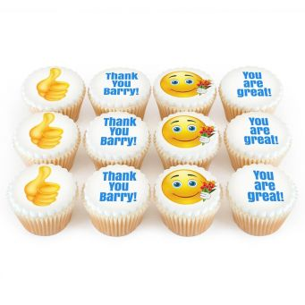 12 Thank You Emoji Cupcakes
