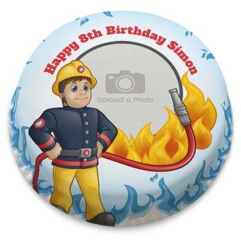 Fun Fireman Photo Cake