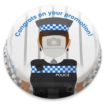 Policewoman Photo Cake