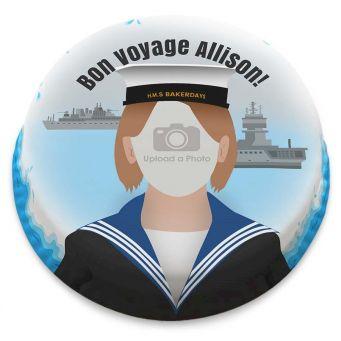 Female Sailor Photo Cake