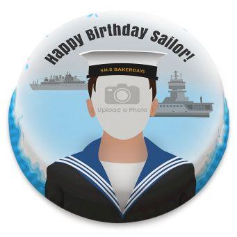 Male Sailor Photo Cake