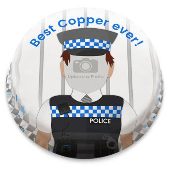 Policeman Photo Cake
