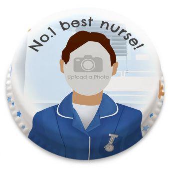 Male Nurse Photo Cake