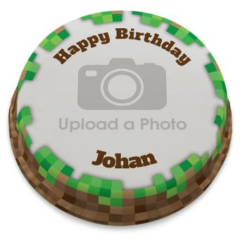 Miner Full Photo Cake