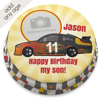 Racing Car Photo Number Cake