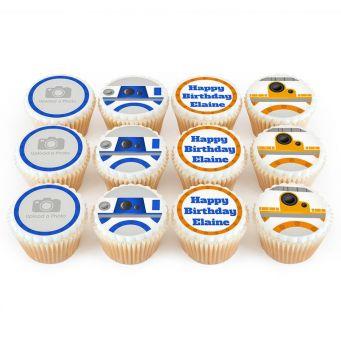 12 Robot Photo Cupcakes