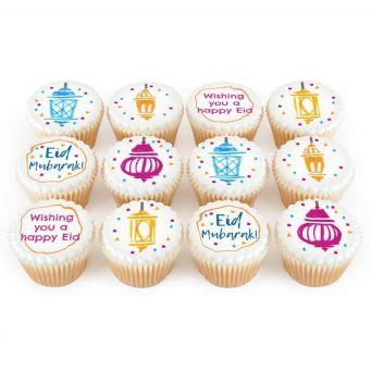 12 Eid Handmade Cupcakes