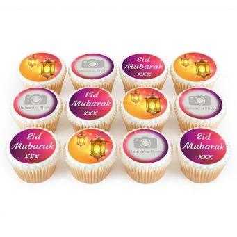 12 Eid Lantern Photo Cupcakes