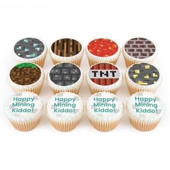 12 Miner Cupcakes