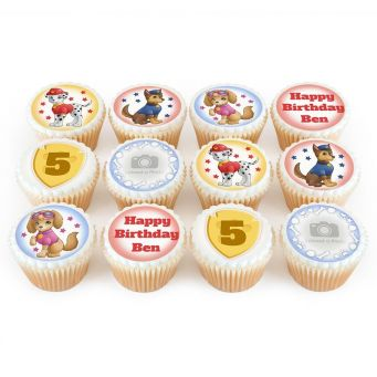 12 Cute Dog Photo Cupcakes