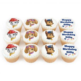 12 Cute Dog Cupcakes