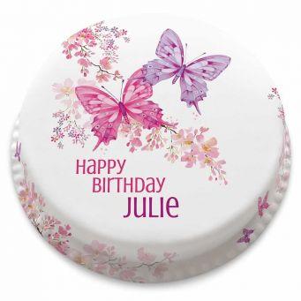 Blossom Butterflies Cake
