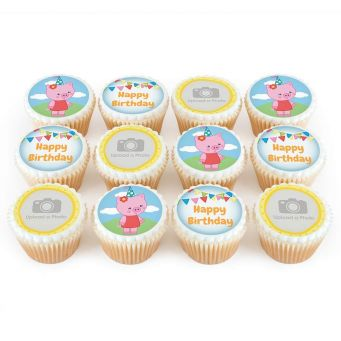 12 Little Pig Photo Cupcakes