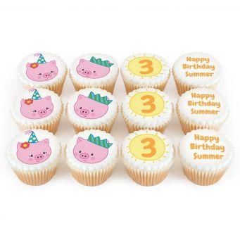 12 Little Piggies Cupcakes