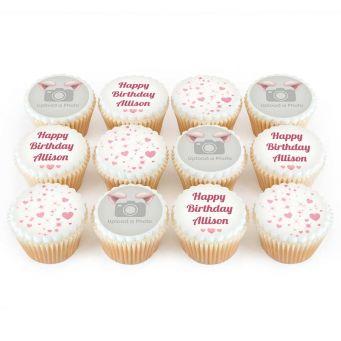 12 Cute Pig Photo Cupcakes