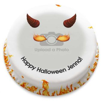 Fire Demon Photo Cake